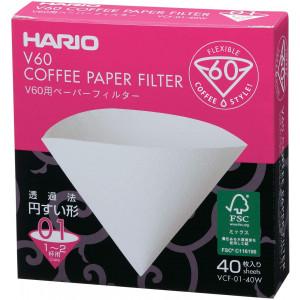 Паперові фільтри Hario V60 01  40 шт