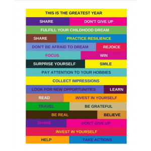 "Poster ""This is the greatest year"""